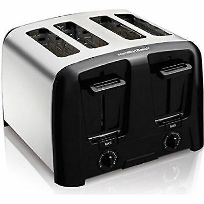 4 Slice Toaster Electric Stainless Steel Hamilton Beach Toast Bagel Waffles New