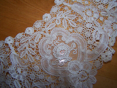 """Beautiful Antique Lace  Collar  1800's  Handmade Floral 48"""""""