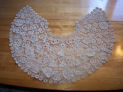 Beautiful Antique Late 1800s Early 1900s Victorian Lace Collar Handmade CELTIC