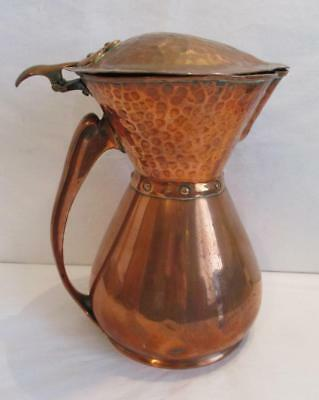 STUNNING ORIGINAL ARTS & CRAFTS COPPER JUG by WILLIAM SOUTTER & SONS1900/1910