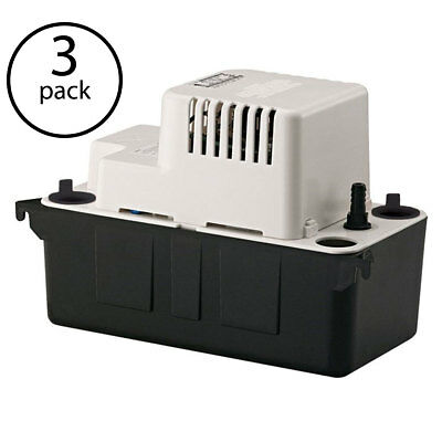 Little Giant VCMA-20ULS 1/30 HP 1/2 ABS Gallon Condensate Removal Pump (3 Pack)