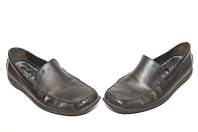 d6a71d80888 Men s ECCO 423642 Black Leather Slip-On Casual Loafers Size EU 45 US 11