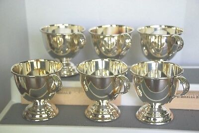 set of 6 nickel silver punch cups