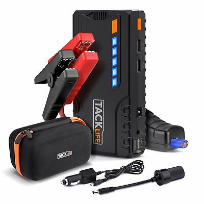 TACKLIFE T6 Car Jump Starter - 600A Peak 16500mAh, 12V Auto Battery Jumper, Boos