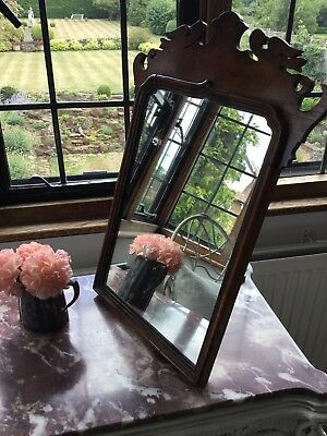ANTIQUE Chippendale Style VINTAGE BURR WALNUT EASEL MIRROR/DRESSING TABLE MIRROR