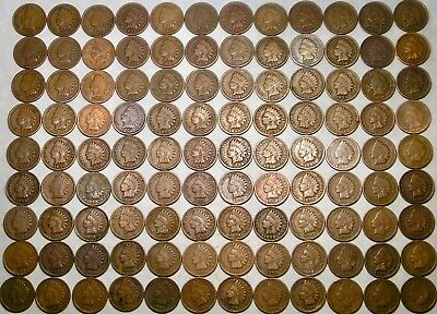 Lot Of 108 Indian Head Cents/pennies Circulated Check The Store 4More Great Lots