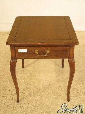 41822: HICKORY CHAIR CO. Country French 1 Drawer Occasional Table