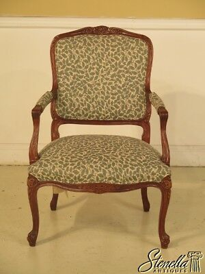 43110: HICKORY CHAIR CO. French louis XVI Open Arm Chair