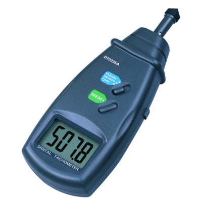 Digital Tachometer by contact  RPM/m/min y m (DT2235A)