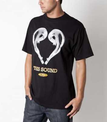 New FMF Love This Sound Adult Tee/T-Shirt, Black, XL