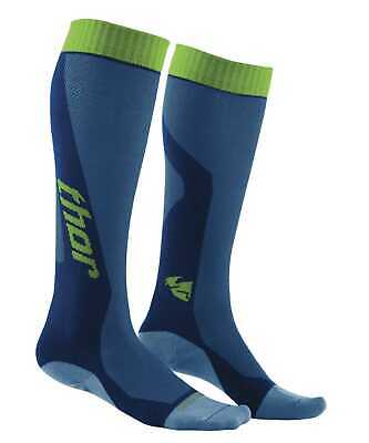 New Thor-MX MX Cool Adult Over-The-Calf Heigth Socks, Blue/Green, Size-6,7,8,9