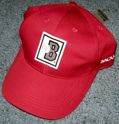 Bacardi Strapback Hat Red With Bacardi Logo & Embroidery NEW WITH TAG