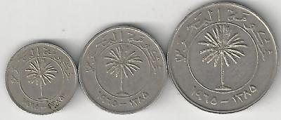 3 DIFFERENT COINS from BAHRAIN - 25, 50 & 100 FILS (ALL DATING 1965)