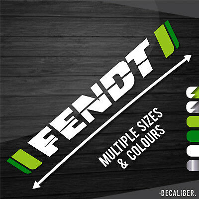 Fendt Tractor Window Sticker / Decal / Sunstrip - Multiple Colours & Sizes