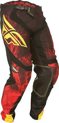 New Fly-Racing Lite Hydrogen Adult Leather Pants, Black/Red, US-34