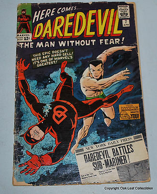 Daredevil 7 - 1st Appearance of The Red Suit! Marvel Low Grade Reader!