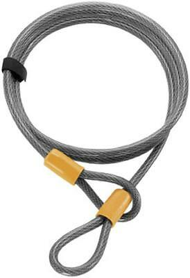 On Guard Locks Akita Series 10MM 7' Cable Only Motorcycle Security,Black/Yellow