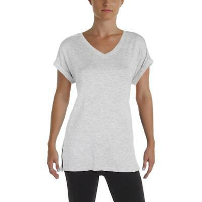 Calvin Klein Performance Womens Gray Heathered Pullover Top Athletic L BHFO 8169