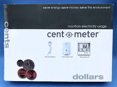Cent A Meter Wireless Home Electricity Usage And Cost Monitor NEW