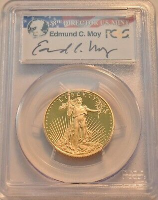 2011 W $25 PCGS PR 70 DCAM American Gold Eagle 1/2 oz PROOF Edmund MOY Signature
