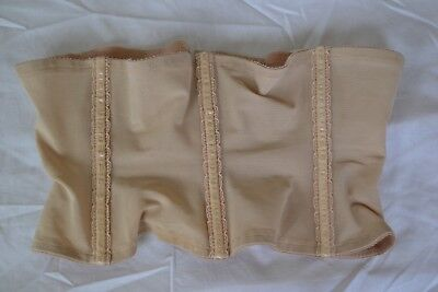Lady Marlene Vintage 60s tan xl Waist Cincher Girdle 23 to 33'' very elastic