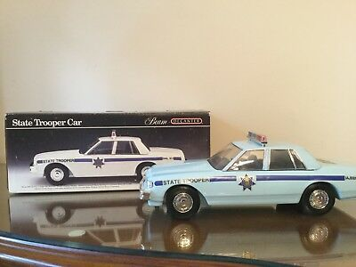 Vintage 1991 Jim Beam Whiskey Decanter State Trooper Police Car w/ Box, Gift