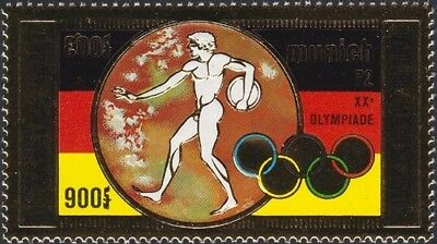 CAMBODIA, 1972. Air Mail Olympics C28, Gold Foil, Mint