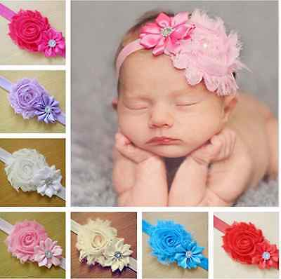 Lots 7pc Lovelly Kid Baby Girl Flower Headband Toddler Hair Bow Band Accessories