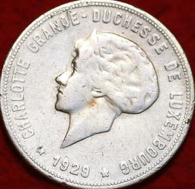 1929 Luxembourg 10 Francs Silver Foreign Coin