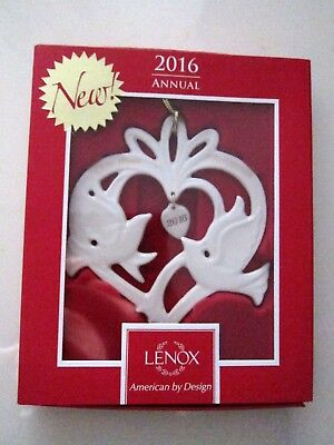 New Lenox  2016 Love Birds Our First Christmas Together Ornament In Box