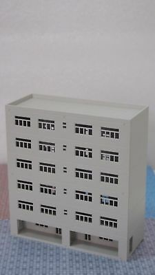1:160 N Scale Outland Models Railway Modern City Tall Industrial Building Office