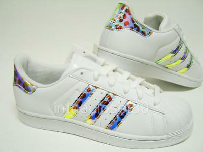 ADIDAS SUPERSTAR IRIDESCENT Leopard White