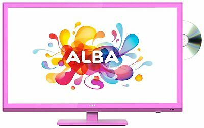 Alba 24 Inch HD Ready 720p Freeview HD LED TV/DVD Combi - Pink