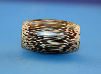 30*18 mm Antique Dzi bamboo old Bead from Tibet **Free shipping**
