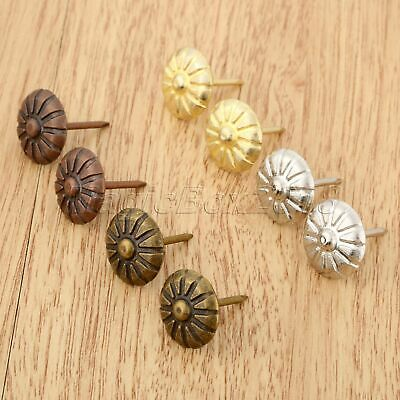 20pcs Fashion Flower Upholstery Nails Wood Box Case Upholstery Tack Studs Decor