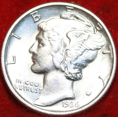 Uncirculated 1936 Philadelphia Mint Silver Mercury Dime