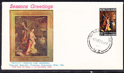 New Zealand 1969 Christmas First Day Cover