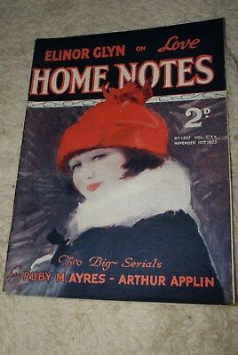 NOVEMBER 10th 1923 No.1557 HOME NOTES MAGAZINE.