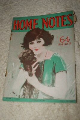 NOVEMBER 1st 1924 HOME NOTES MAGAZINE.
