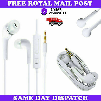 Genuine Samsung In-Ear White Headphones Handsfree With Mic For Galaxy Phones UK