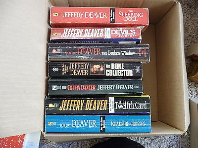 Jeffery Deaver/lincoln Rhyme Lot Of 7 Paperback Books - Good Condition