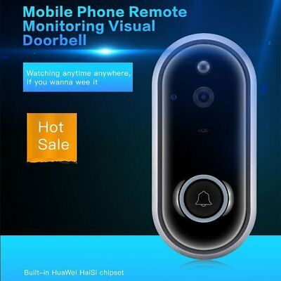 WiFi Video Camera Phone Smart Door Bell Night Vision - IP Intercom Home Security