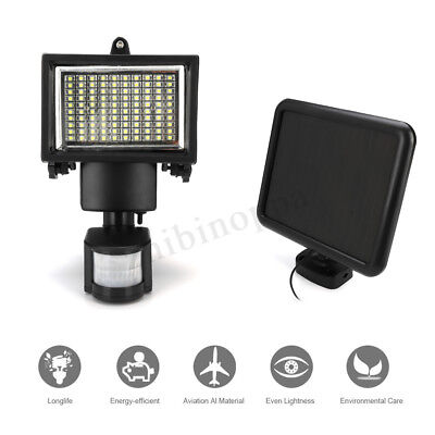 100LED Solar Power Motion Sensor Flood Light Outdoor Garden Security Wall Lamp
