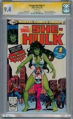 Savage She-Hulk #1 Cgc 9.4 Signature Series Stan Lee Origin App Marvel Comics