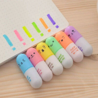 Mini For Cute Stationery Pen Supplies Graffiti Writing School Office 6 Face Hot