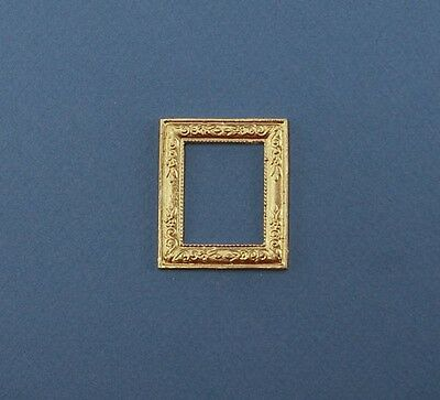Nice 1:12 Scale Dollhouse Miniature Gold Metal Picture Frame #JLM135