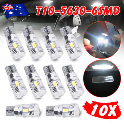 T10 White LED 6SMD 5630 W5W 168 194 12V Car Wedge Dash Canbus Parking Side Light