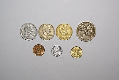7 - 1 PESO COINS from CHILE - 1933/1954/1976/1979/1989/1990/2009 (7 TYPES)