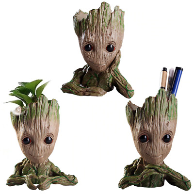 Baby Groot Figure Flowerpot Toy Guardians Of The Galaxy Vol 2 Tree Pot Pen Gift