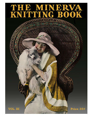 Minerva #3 c.1919 Gorgeous Vintage Knitting & Crochet Patterns for the All Ages